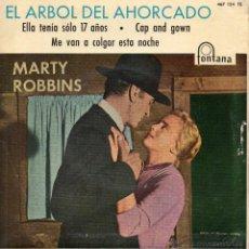 Discos de vinilo: MARTY ROBBINS CON RAY CONNIFF Y SU ORQUESTA, EP, EL ARBOL DEL AHORCADO + 3, AÑO 1960. Lote 45257568