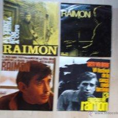 Discos de vinilo: CUATRO EPS DE RAIMON - EDIGSA 2 CON ENCARTE DE PROMOCION. Lote 45258701