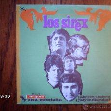 Discos de vinilo: LOS SIREX - HAY UNA MONTAÑA + JUDY CON DISFRAZ . Lote 45258788