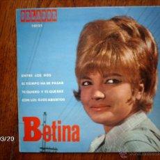 Discos de vinilo: BETINA - ENTRE LOS DOS + 3. Lote 45259509
