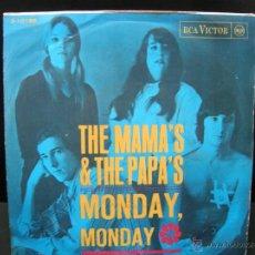 Discos de vinilo: THE MAMAS AND THE PAPAS - MONDAY MONDAY / CALIFORNIA DREAMIN' - EDICION ESPAÑOLA RCA VICTOR 1966. Lote 45261554