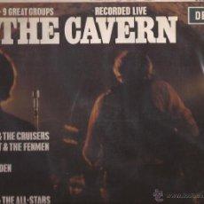 Discos de vinilo: LP-AT THE CAVERN-DECCA 4597-SPAIN 1964-ORANGE LABEL-HEINZ DAVE BERRY FORTUNES LEE CURTIS MARAUDERS. Lote 45264876