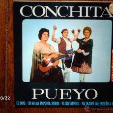 Discos de vinilo: CONCHITA PUEYO - EL DIVO + 3. Lote 45274891