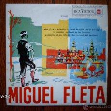 Discos de vinilo: MIGUEL FLETA - AMAPOLA + 3. Lote 45275534