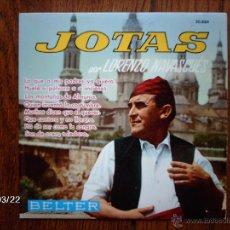 Discos de vinilo: LORENZO NAVASCUES - JOTAS - LAS MONTAÑAS DE ALMUNIA + 7. Lote 45276054