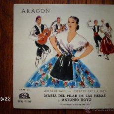 Discos de vinilo: MARIA DEL PILAR DE LAS HERAS Y ANTONIO ROYO - JOTAS DE BAILE + JOTAS DE BAILE A DUO . Lote 45281660