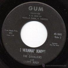 Discos de vinilo: CAVALIERS, THE WITH LLOYD NASH - PUT YOUR TRUST IN ME (SG 1962) DOO WOP SOUL USA (((ESCUCHA))). Lote 45283626
