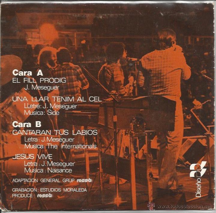 Discos de vinilo: EP RESSO : EL FILL PRODIG + 3 - Foto 2 - 45286286