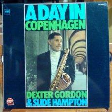 Discos de vinilo: DEXTER GORDON, A DAY IN COPENHAGEN (CFE 1980) LP ESPAÑA - SLIDE HAMPTON KENNY DREW. Lote 45287135