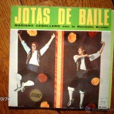 Discos de vinilo: MARIANO CEBOLLERO CON LA RONDALLA BRETON - JOTAS DE BAILE - BOLERO DE CASPE + 3. Lote 45293033