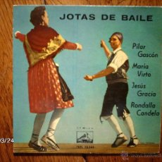 Discos de vinilo: PILAR GASCON, RONDALLA CANDELA, MARIA VIRTO, JESUS GRACIA - JOTAS DE BAILE + 4. Lote 45293351