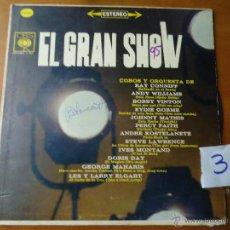 Discos de vinilo: DISCO VINILO RARO - EL GRAN SHOW CBS MONAURAL HECHO EN COLOMBIA ,. Lote 45297727