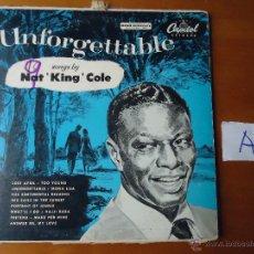 Discos de vinilo: DISCO VINILO RARO - UNFORGETTABLE , SONGS BY NAT KING COLE , CAPITOL RECORDS U.S.. Lote 45297930