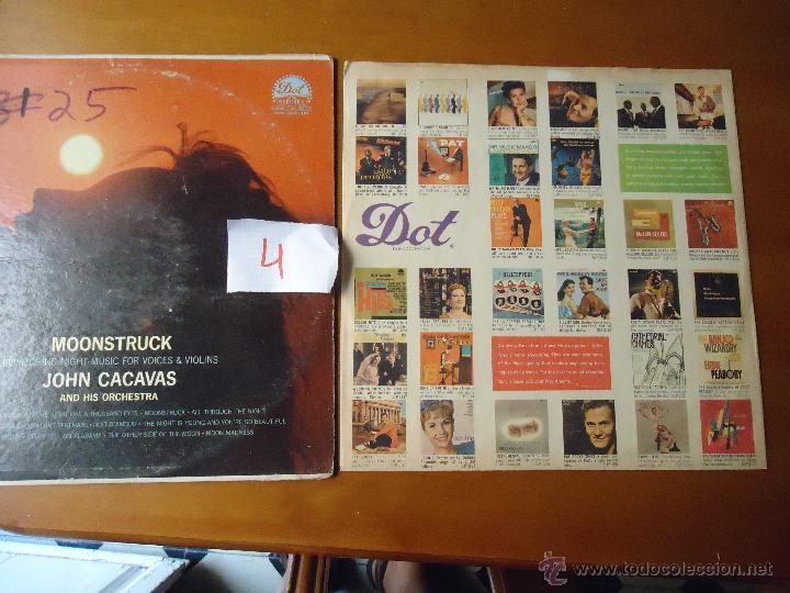 Discos de vinilo: DISCO grabde VINILO RARO - MOONSTRUCK , JOHN CACAVAS AND HIS ORCHESTRA , PRINTED USA - Foto 5 - 45298022