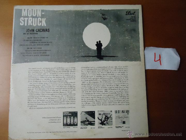 Discos de vinilo: DISCO grabde VINILO RARO - MOONSTRUCK , JOHN CACAVAS AND HIS ORCHESTRA , PRINTED USA - Foto 6 - 45298022