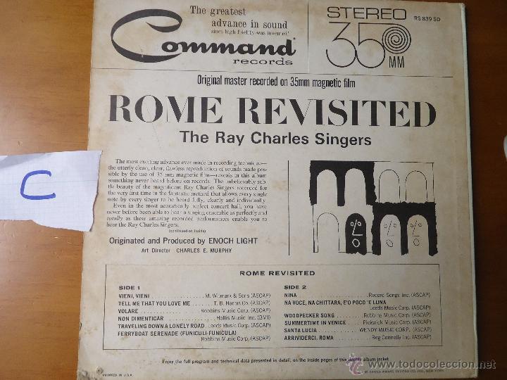 Discos de vinilo: DISCO VINILO RARO - SOUND 35 / MM ROME REVISITED THE RAY CHARLES SINGERS 1962 PRINTED USA - Foto 3 - 45298052