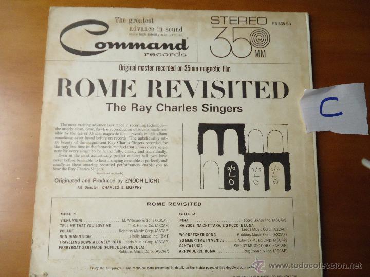 Discos de vinilo: DISCO VINILO RARO - SOUND 35 / MM ROME REVISITED THE RAY CHARLES SINGERS 1962 PRINTED USA - Foto 7 - 45298052