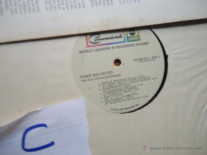 Discos de vinilo: DISCO VINILO RARO - SOUND 35 / MM ROME REVISITED THE RAY CHARLES SINGERS 1962 PRINTED USA - Foto 9 - 45298052