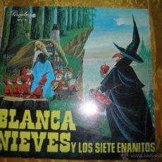 Discos de vinilo: BLANCA NIEVES Y LOS SIETE ENANITOS. 10 PULGADAS. CARATULA ABIERTA. PERGOLA 1967. Lote 45299988