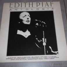 Disques de vinyle: EDITH PIAF - ANTOLOGIA - EDITH PIAF LA ALONDRA DE PARIS - MADE IN SPAIN 1983 - LP. Lote 45300089