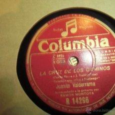 Discos de vinilo: FLAMENCO JUANITO VALDERRAMA BUEN ESTADO, DISCO DE PIZARRA. Lote 45300174
