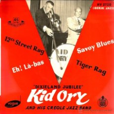 Discos de vinilo: EP KID ORY AND HIS CREOLE JAZZ BAND ( DIXIELAND JUBILEE ) : 12TH STREET RAG . Lote 45300995