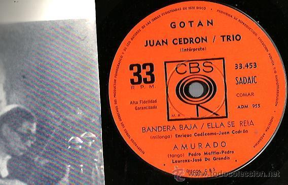 Discos de vinilo: EP JUAN CEDRON TRIO : GOTAN - Foto 3 - 45301047