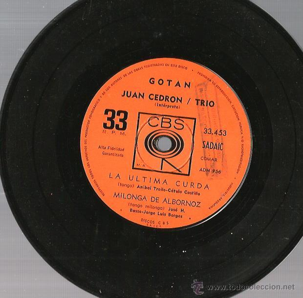 Discos de vinilo: EP JUAN CEDRON TRIO : GOTAN - Foto 4 - 45301047