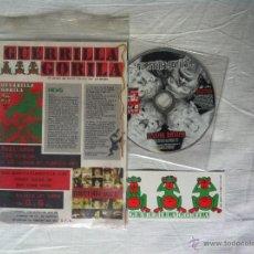 Discos de vinilo: CD FANZINE-GUERRILLA GORILA-LLUVIA BASICA. Lote 45301691