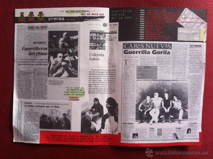 Discos de vinilo: CD FANZINE-GUERRILLA GORILA-LLUVIA BASICA - Foto 2 - 45301691