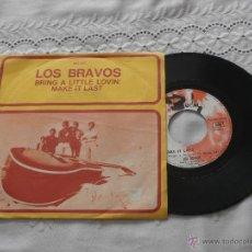 Discos de vinilo: LOS BRAVOS 7´SG BRING A LITTLE LOVIN´ / MAKE IT LAST **EDICION ORIGINAL FRANCESA* BUENA CONDICION. Lote 45304629