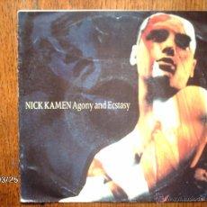 Discos de vinilo: NICK KAMEN - AGONY AND ECSTASY + SACRIFICE YOUR REPUTATION . Lote 45312390