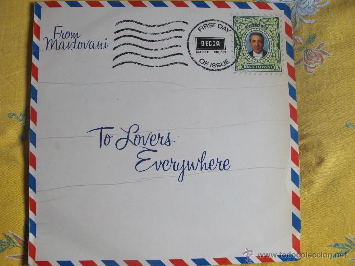 LP - MANTOVANI - TO LOVERS EVERYWHERE (SPAIN, DECCA RECORDS 1974) (Música - Discos - LP Vinilo - Orquestas)