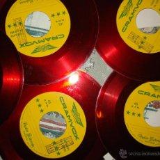 Discos de vinilo: CUCO SANCHEZ, LOTE DE CINCO SINGLES , COPIA DE MATRIZ ALUMINIO CRAMVOX , RADIO GUZMAN. Lote 45328262