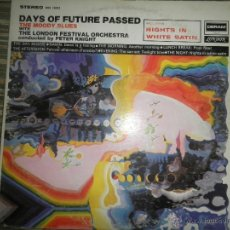 Discos de vinilo: THE MOODY BLUES - DAYS OF FUTURE PASSED LP - ORIGINAL U.S.A. DERAM/LONDON 1967 1ER PRENSAJE - FUNDA . Lote 45331698