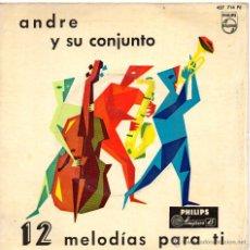 Discos de vinilo: ANDRE Y SU CONJUNTO, EP, ANGELINA + 11 , AÑO 1959. Lote 45332300