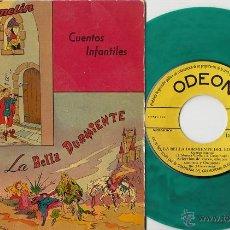 Discos de vinilo: EL FLAUTISTA DE HAMELIN SINGLE DE VINILO ODEON 16.027 1958 CUENTOS INFANTILES VINILO VERDE. Lote 91042248