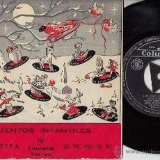 Discos de vinil: LA RATITA SINGLE DE VINILO COLUMBIA ECGE 70065 1956 CUENTOS INFANTILES. Lote 45333745