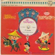 Discos de vinilo: EL PATIO DE MI CASA / EL FAROLERO DISCO ANIMADO BAMBINO 78 RPM 1961. Lote 45333966