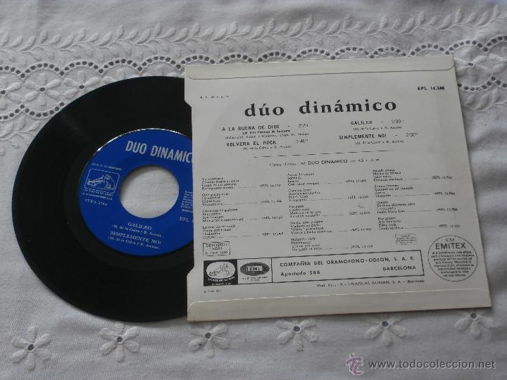 Discos de vinilo: DUO DINAMICO 7`EP A LA BUENA DE DIOS + 3 TEMAS (1966) ESTADO NUEVO - Foto 2 - 45338730