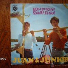 Discos de vinilo: JUAN & JUNIOR - NOS FALTA FE + BAJO EL SOL. Lote 45341142