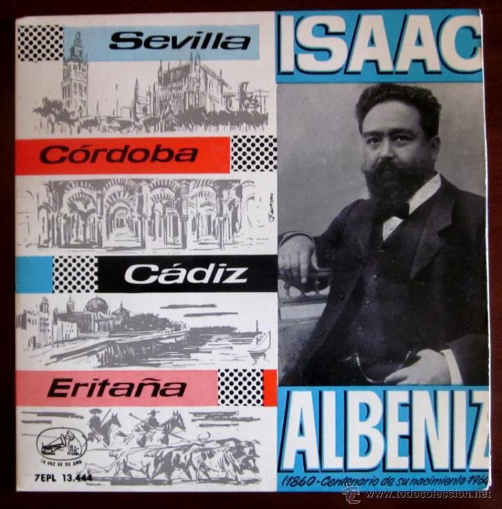 ISAAC ALBÉNIZ - ORQUESTA SINFÓNICA ESPAÑOLA - 1960 - DIR. JOSÉ Mª FRANCO; CASTAÑUELAS: PILAR LÓPEZ (Música - Discos de Vinilo - EPs - Clásica, Ópera, Zarzuela y Marchas)