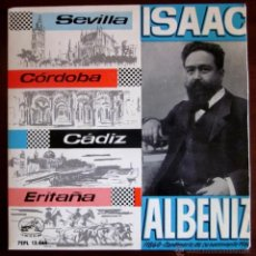 Discos de vinilo: ISAAC ALBÉNIZ - ORQUESTA SINFÓNICA ESPAÑOLA - 1960 - DIR. JOSÉ Mª FRANCO; CASTAÑUELAS: PILAR LÓPEZ. Lote 45341211