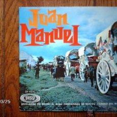 Discos de vinilo: JUAN MANUEL - SEVILLANAS DEL ROCIO + 3. Lote 45341222