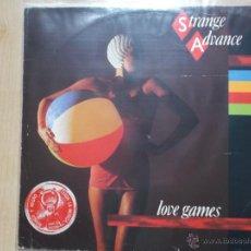 Discos de vinilo: STRANGE ADVANCE - LOVE GAMES 1982 - TECNO POP. Lote 45347391