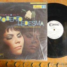 Discos de vinilo: DISCO VINILO RARO - ROBERTO LEDESMA , DISCOS FUENTES, PENSANDO EN TI - GEMA - MEDELLIN COLOMBIA. Lote 45349820