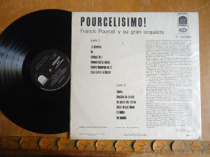 Discos de vinilo: DISCO VINILO RARO - medellin colombia , pourcelismo , pranck porucel y gran orquesta, emi - codiscos - Foto 2 - 45350114