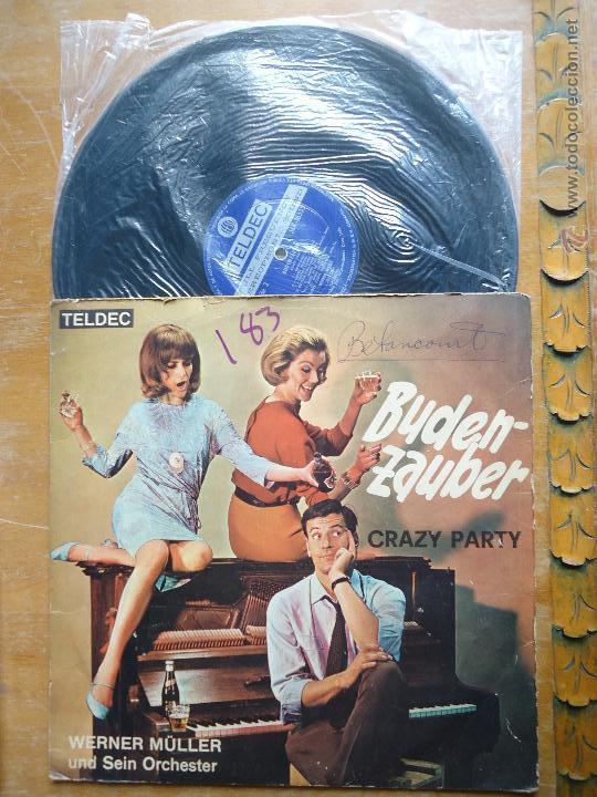 DISCO VINILO RARO - BUDEN ZAUBER , CRAZY PARTY , WERNER MULLER - IMPORTADO COLOMBIA (Música - Discos - Singles Vinilo - Otros estilos)
