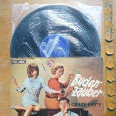 Discos de vinilo: DISCO VINILO RARO - BUDEN ZAUBER , CRAZY PARTY , WERNER MULLER - IMPORTADO COLOMBIA . Lote 45350127