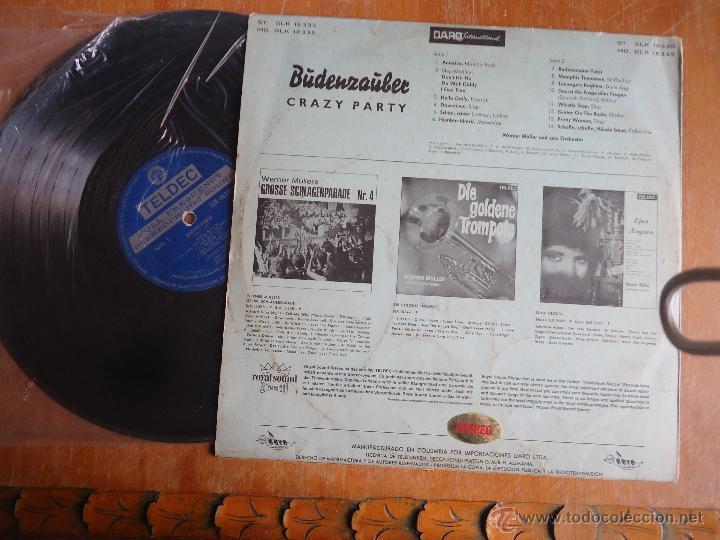 Discos de vinilo: DISCO VINILO RARO - buden zauber , crazy party , werner muller - importado colombia - Foto 2 - 45350127